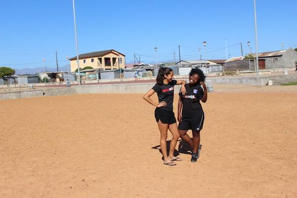 CP and Yamkela on pitch
