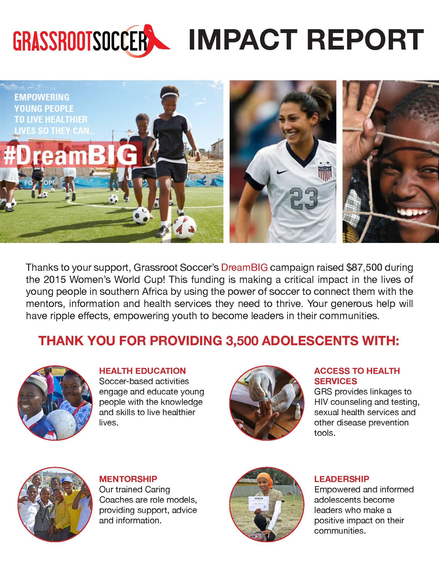 Dream BIG Impact Report p.1