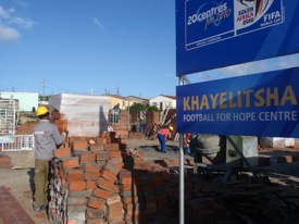 Construction is underway at the Khayelitsha Football For Hope Centre