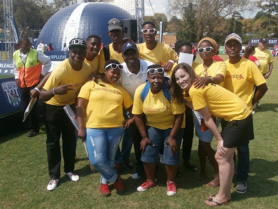 GRS team with Lucas Radebe