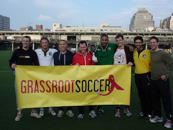 Grassroot Soccer at NYFEST 2011 with former U.S. Players