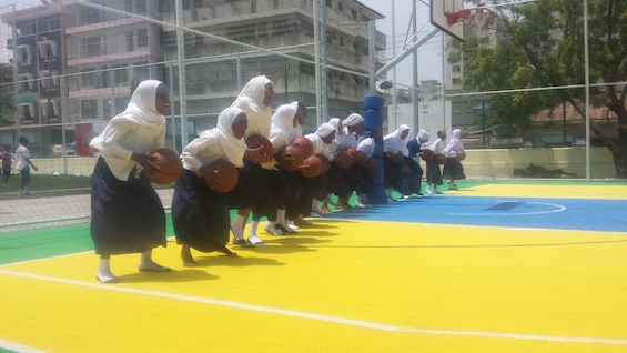 Girls basketball at JMK park