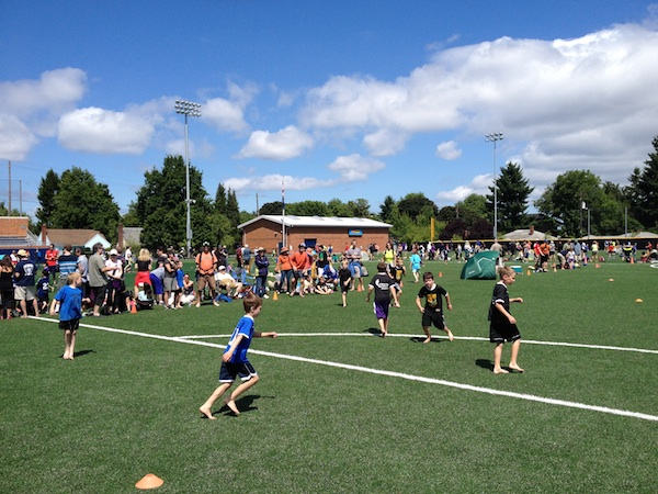 Youth teams at Portland Barefoot Tournament