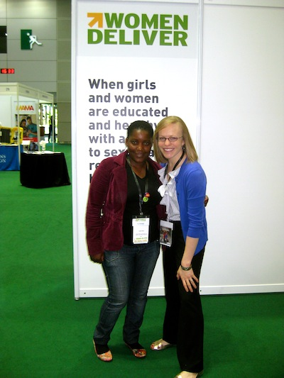 Lizzie and Elise at Women Deliver 2013