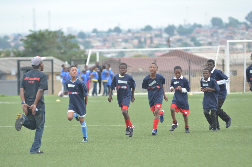 Participants at the World AIDS Day Nike / Grassroot Soccer tournament.