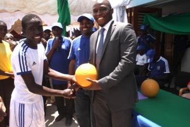 Patrick Onyagao and tournament winners.