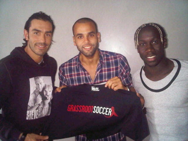 GRS Ambassadors Robert Pirès, Walid Bouzid, and Bacary Sagna