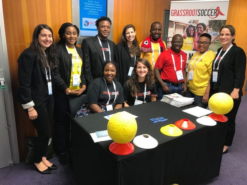 The Grassroot Soccer delegation to AIDS 2018.