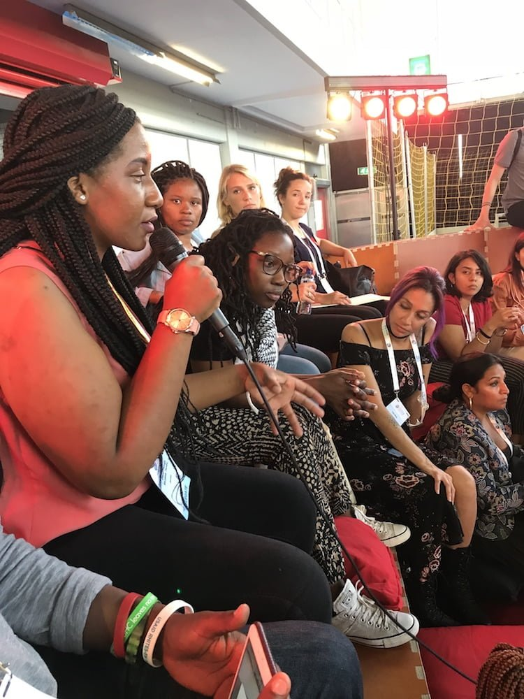 Discussing paths to youth engagement at a #GenEndIt session at AIDS 2018.