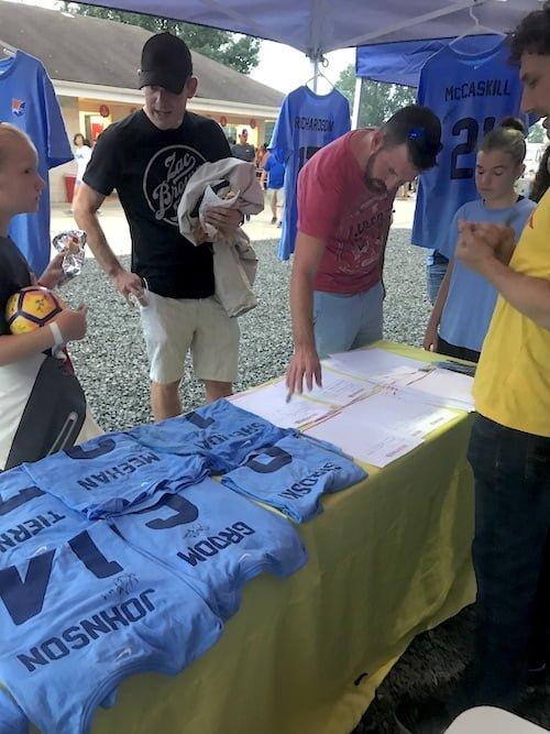 Sky Blue FC / EDP / Grassroot Soccer shirt auction